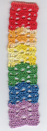 Rainbow shells bookmarker