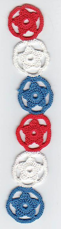 Red white and blue stars bookmarker