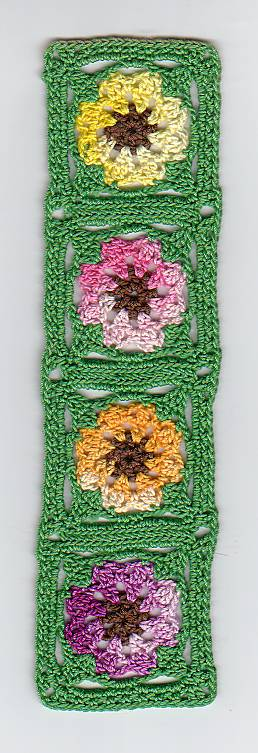 Spring bouquet bookmarker