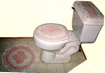 Shell pattern bath set