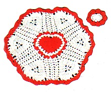 Heart design placemats